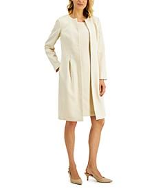 Topper-Jacket Jacquard Dress Suit