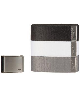 나이키 맨 골프웨어 웹 벨트 3Nike Mens 3-Pk. Web Belts,Black/White/Grey