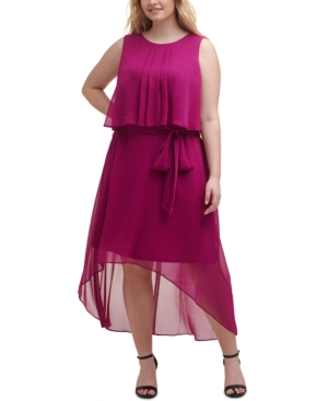 Plus Size Tie-Waist Popover Dress