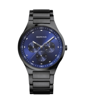 Men's Classic Black Stainless Steel Bracelet Watch 40mm