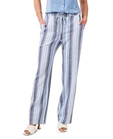 Striped Tie-Waist Pants