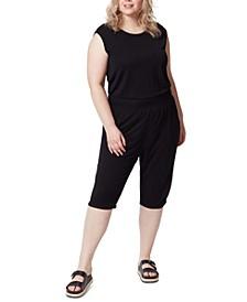 Trendy Plus Size Cropped Jumpsuit