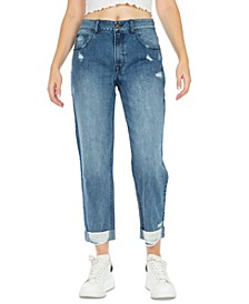 Destructed Cuffed Dad Jeans