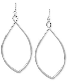 Robert Lee Morris Soho Silver-Tone Large Oval Drop Earrings