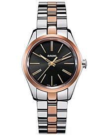 Rado Women's Swiss Hyperchrome Rose Gold-Tone Ceramos® and Stainless Steel Bracelet Watch 31mm R32976152