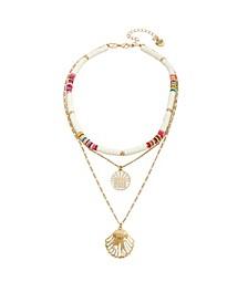 Seashell Mixed Pendant Layered Necklace