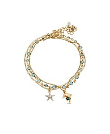 Starfish Charm Anklet Set