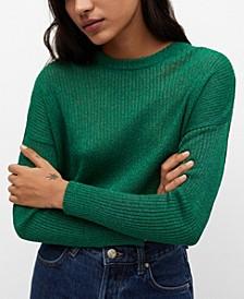 Ribbed Metallic Sweater