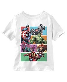 Little Boys Avengers Boxed T-Shirt