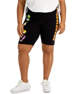 Trendy Plus Size Nickelodeon Bike Shorts