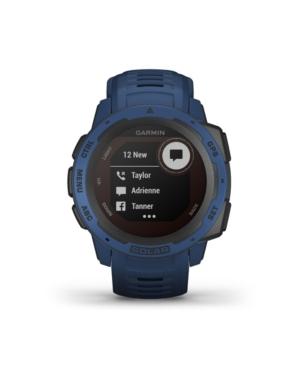 Unisex Instinct Solar Tidal Blue Silicone Strap Smart Watch 23mm
