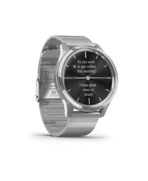 Unisex Vivomove 3 Luxe Silver Milanese Strap Smart Watch 24.1mm