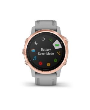 Unisex Fenix 6S Gray Silicone Strap Smart Watch 30.4mm
