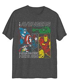 Big Boys Avengers Hero's Boxes Short Sleeve Graphic T-shirt