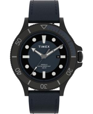 TIMEX MEN'S ALLIED BLUE FABRIC STRAP WATCH 43MM