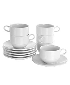 Drew Cup and Saucer Set of 12 Pieces