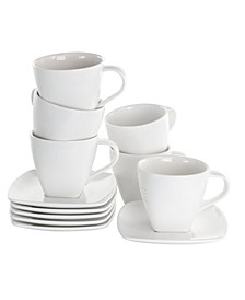 Market Square Cup and Saucer Set of 12 Pieces
