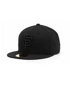 New Era San Francisco Giants Black on Black Fashion 59FIFTY