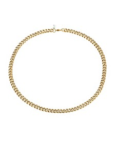 """Brushed Gold Tone Stainless Steel 6mm Franco Chain Necklace, 22"""""""