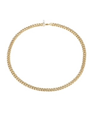 Brushed Gold Tone Stainless Steel 6mm Franco Chain Necklace