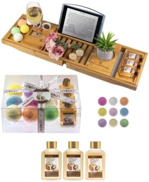Vanilla Coconut Bathtub Caddy Gift Set