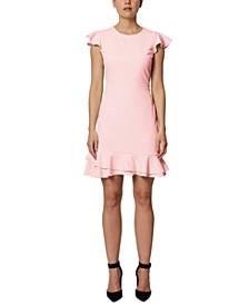 Ruffle Hem Mini Dress