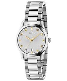 Women's Swiss G-Timeless Stainless Steel Bracelet Watch 27mm