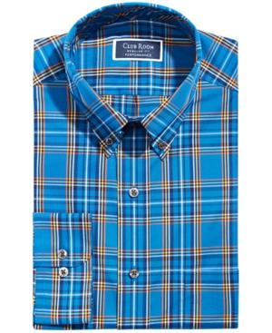 Men's Classic/Regular-Fit Wrinkle-Resistant Performance Stretch Stewart Tartan Dress Shirt
