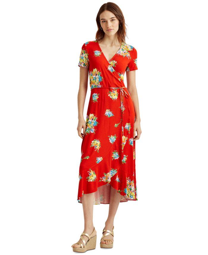 Lauren Ralph Lauren Petite Floral Stretch Jersey Dress & Reviews - Dresses - Petites - Macy's