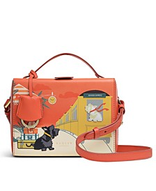 All Aboard Small Leather Satchel