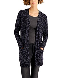 Animal-Print Open Cardigan, Created for Macy's