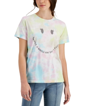 Juniors' Tie-Dye Graphic T-Shirt