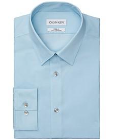 Non-Iron Slim-Fit Herringbone Solid Performance Dress Shirt