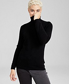 Cashmere Turtleneck Sweater, In Regular and Petites, Created for Macys