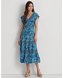 Floral Jersey Midi Dress