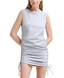 Cinched-Side Sleeveless Dress