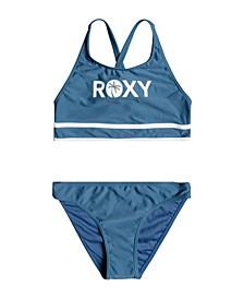 Big Girls Perfect Surf Time Crop Top Bikini Set