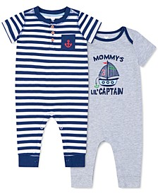 Baby Boys 2 Piece Nautical Rompers Set