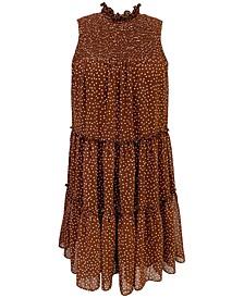Petite Printed A-Line Dress