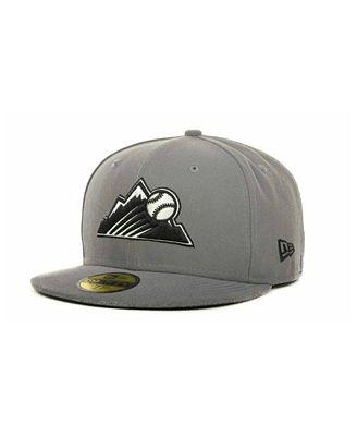 New Era Colorado Rockies MLB Gray BW 59FIFTY Cap