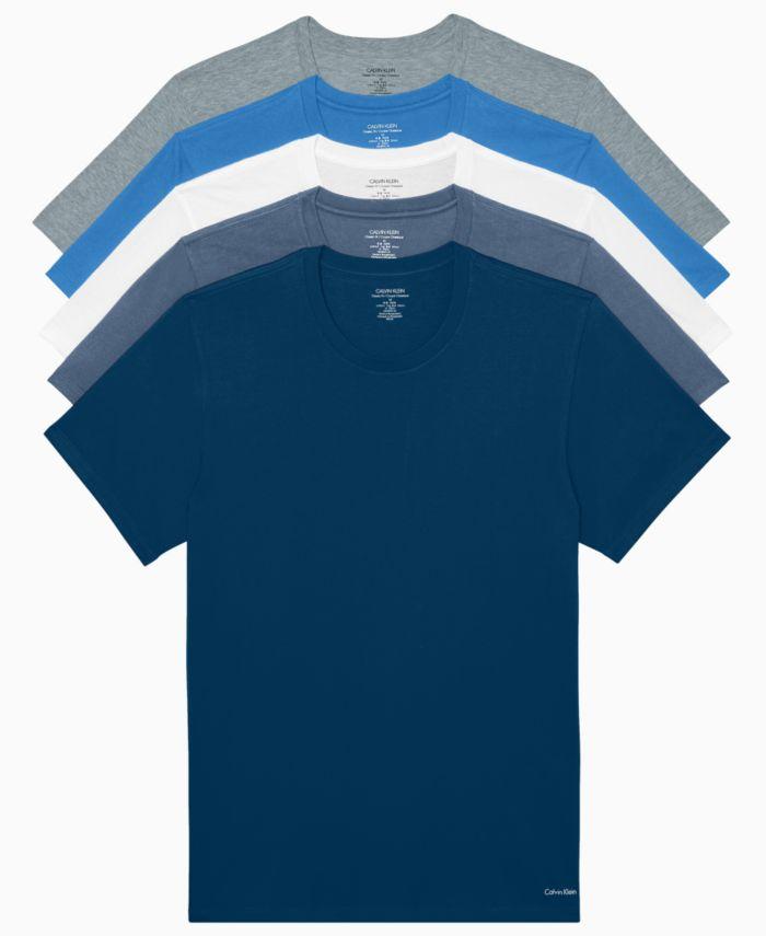 Calvin Klein Men's Classic Crew Neck T-shirts, Pack of 5 & Reviews - Underwear & Socks - Men - Macy's