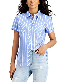 Coastline-Stripe Camp Shirt