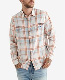 Men's Long Sleeves No Yoke Western Workwear Shirt