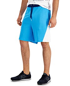 Men's Simply Blue Pieced Colorblocked Shorts, Created for Macy's