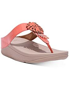 Women's Fino Jungle Leaf Thong Sandals