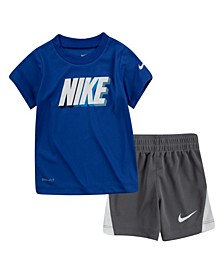 Little Boys Block T-shirt and Shorts Set, 2 Piece
