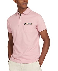 Men's Hirst Tartan Trim Pocket Polo Shirt