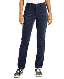 Petite Lexington Corduroy Straight-Leg Pants, Created for Macy's
