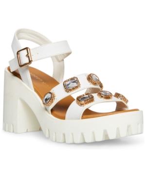 Stunning Gemstone Lug Sole Sandals