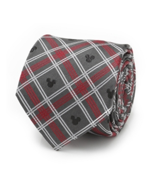 Men's Mickey Mouse Holiday Plaid Silk Tie